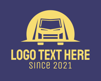 Jeep - Van Truck Transport logo design