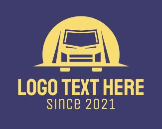 Transport - Van Truck Transport logo design