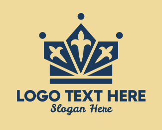 Hospitality - Fancy Blue Crown logo design