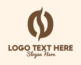 Roasted - Brown Coffee Bean logo design