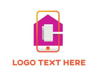 Magenta - Mobile Plug logo design