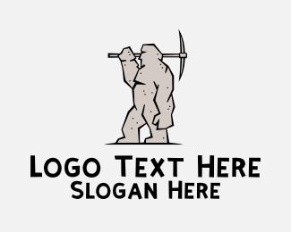 Mining - Stone Golem logo design