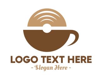 Vinyl - Modern Coffee Vinyl logo design