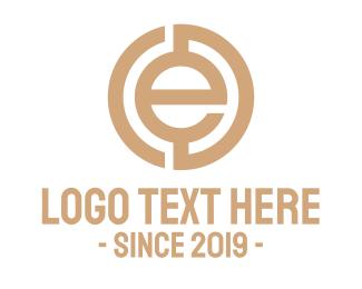 E-cigarette -  E Bitcoin  logo design
