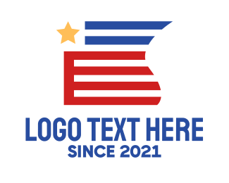 Voting - Patriotic American Flag logo design