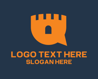 Orange Tower - Castle Chat logo design