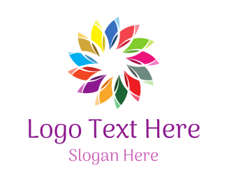 Polynesian - Chromatic Flower logo design