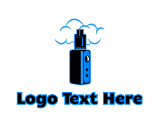 E Cigarette - Blue Variable Vape logo design