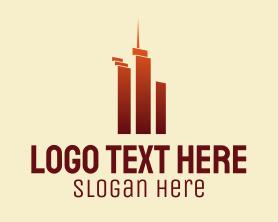 Buildings - Urban Skyscraper Buildings logo design