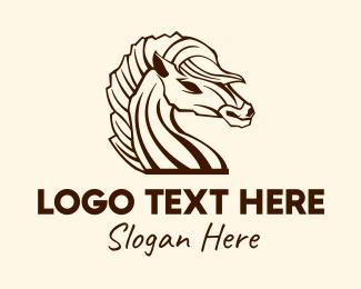 Dark - Creepy Dark Horse  logo design