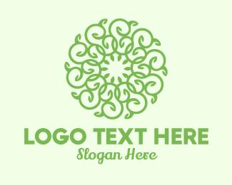 Twig - Rounded Vine Wreath logo design
