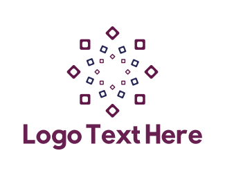 Ornamental - Square Flower logo design