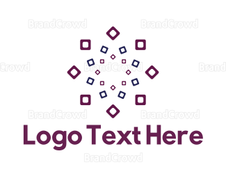 Gardening - Square Flower logo design