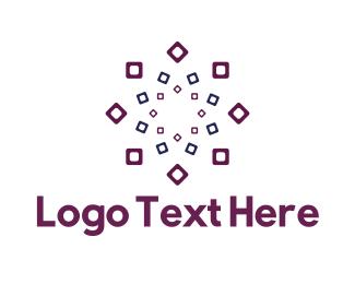 Element - Square Flower logo design