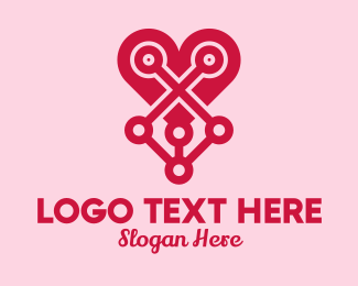 Matchmaker - Mechanical Heart  logo design