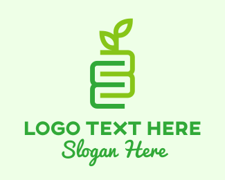 Farm Produce - Number 3 Eco Plant  logo design