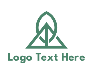 Geothermal Energy - Nature Tech Leaf logo design