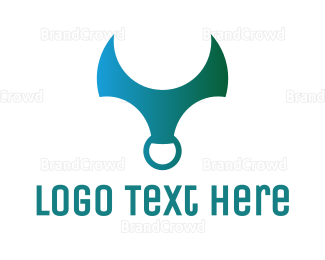 Ring - Gradient Horn Ring logo design