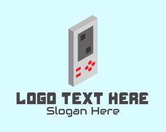 Console - Retro Gaming Console logo design