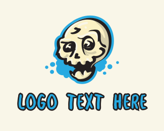 Tattoo Gallery - Skull Graffiti  logo design