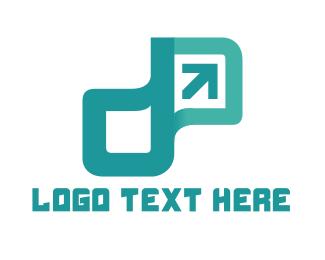 Initial - Tech Arrow logo design