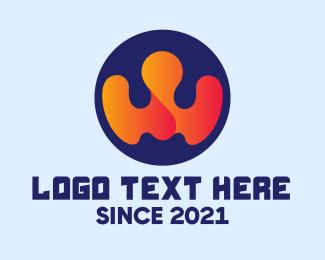 Software Developer - Modern Company Letter W  logo design