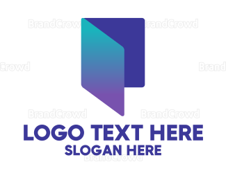 Doc - Blue Gradient Folder logo design