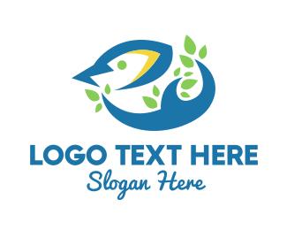Bird House - Abstract Little Bird logo design
