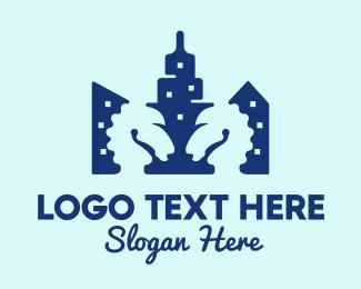 Urban - Urban Skyscraper Tower logo design