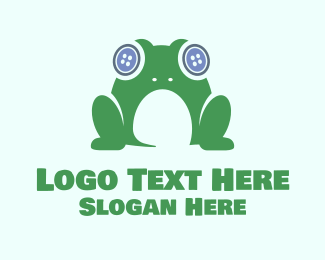 Seamstress - Frog Button logo design