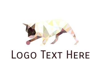 Boston Terrier - Geometric Dog logo design