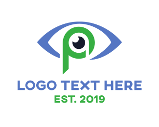 Eye Doctor - Eye P Outline logo design