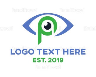 Eye Clinic - Eye P Outline logo design