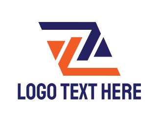 Team Emblem - Modern Z Square logo design