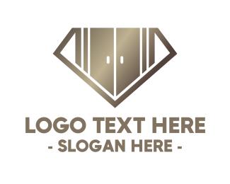 Wardrobe - Diamond Closet logo design