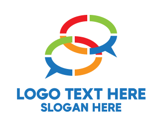 Colored - Modern Chatting App logo design