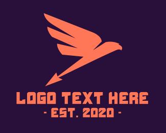 Red Bird - Arrow Bird logo design