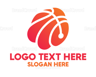 Mvp - Abstract Basketball Shell logo design