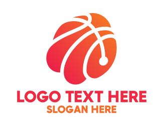 Mvp - Abstract Basketball Shell logo design