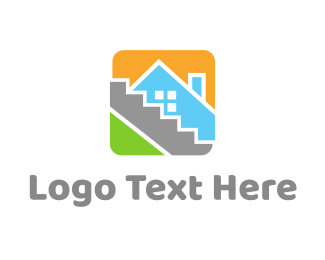 Tile - House Tile Square logo design