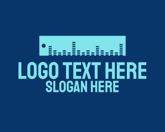 Volume - Sound Ruler logo design