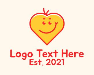 Kids Apparel - Happy Heart Emoji logo design