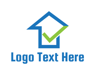 Check - Blue House Approval logo design