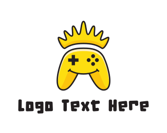 Console Game - Yellow Smiling Controller logo design