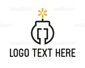Code - Bomb Code logo design