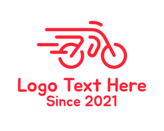 Cycling Club - Fast Bicycle Bike Motorbike logo design
