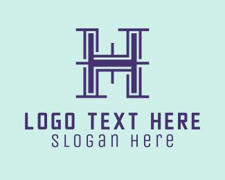Digital Printing - Property Letter H logo design