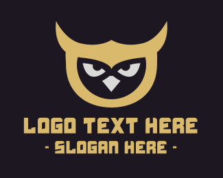 Nocturnal Animal - Owl Mascot logo design