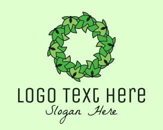 Biological - Simple Leaf Wreath logo design