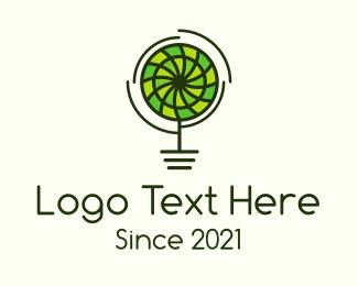 Tree - Organic Pinwheel Flower logo design